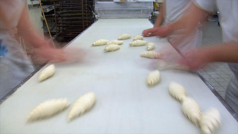 german bakery chocolate roll bun croissant time lapse 10815 Footage