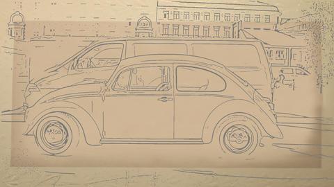 Volkswagen Beetle Stock Video Footage