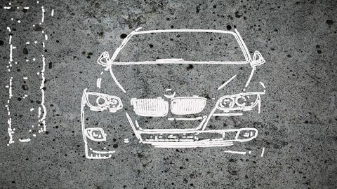 white BMW Animation