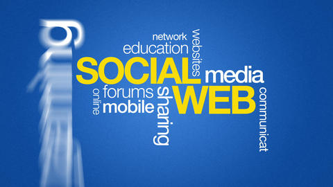 Social Web Stock Video Footage