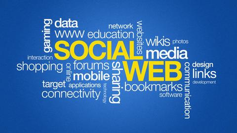 Social Web Stock Video Footage