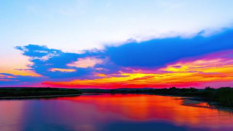 Sunrise at the lake Footage