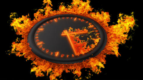 Burning clock Stock Video Footage