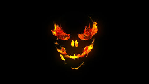 Burning skull Stock Video Footage