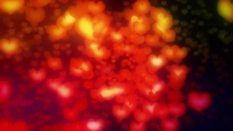 Heart radial rainbow1 Stock Video Footage