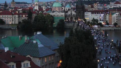 Prague Bridge 3.1 Stock Video Footage
