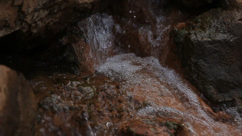 water and stones Stock Video Footage