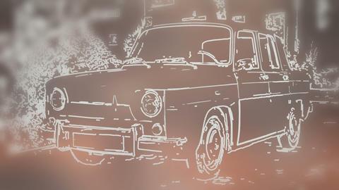 Vintage Renault Stock Video Footage