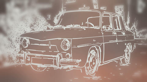 Vintage Renault Animation