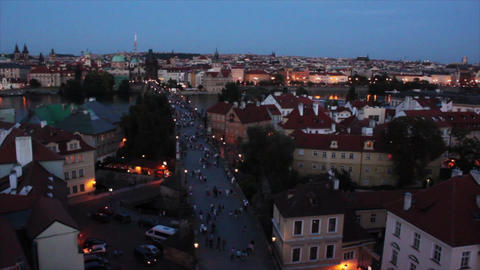 Prague City 6 Stock Video Footage