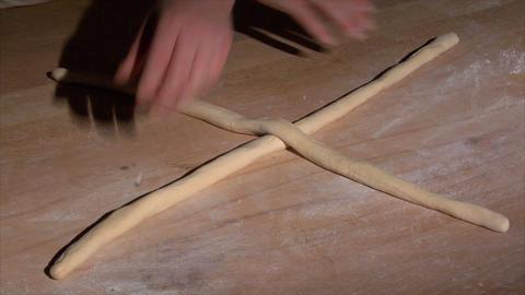 german baker bread plait braid challah spot 10836 Stock Video Footage