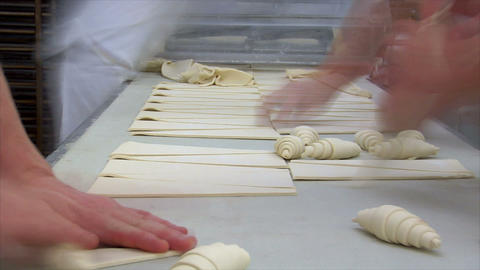 german bakery roll bun croissant time lapse close 10838 Footage