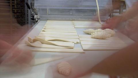 german bakery roll bun croissant time lapse close 10838 Stock Video Footage