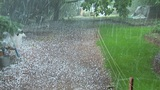 Hail Storm stock footage