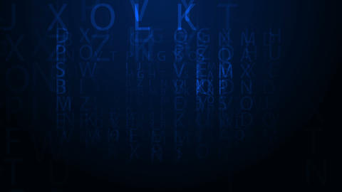 Moving Letters Stock Video Footage