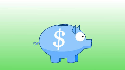 Piggy Bank - Earn money / Save money CG動画素材