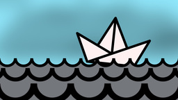 PAPER BOAT stormy weather Animation