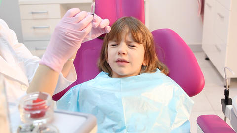 scared little girl at the dentist Live Action