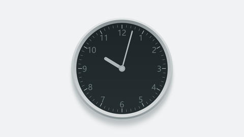 Office clock measuring off working hours from 10 am to 7 pm Footage