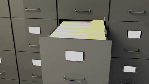 Filing Cabinet Animation CG動画素材