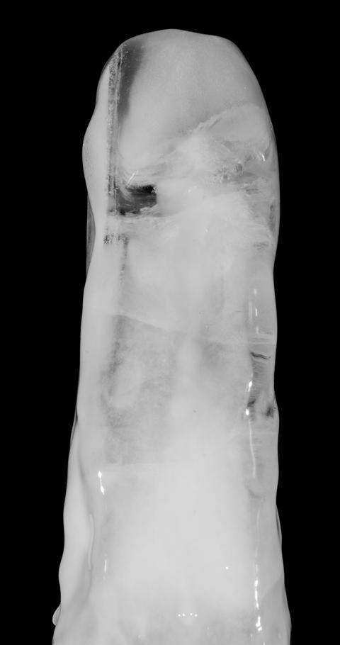 Ice Stick Melting on Alpha Matte Footage