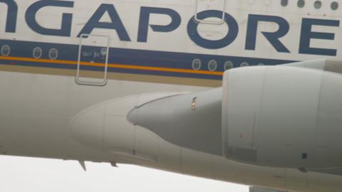 Airplane landing in Frankfurt Live Action