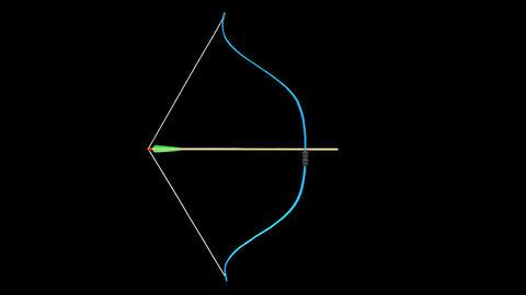 Bow shoots an arrow Animation