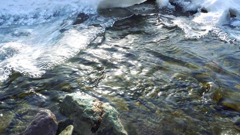 Ice Floe on Altai creek Footage