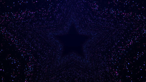 Adorable Stars Shimmering Glitter Wall Background Particles Animación