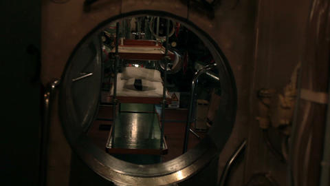 submarine inside aft torpedo compartment Footage