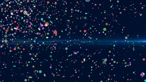 Background glowing particles wall colorful dream Animation