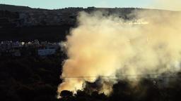 Smoke rising up at morning Footage