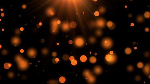 Orange Defocused Dots of Light, Stars and Rays of Light CG動画素材