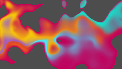 Colorful liquid 3d abstract waves video animation Animation