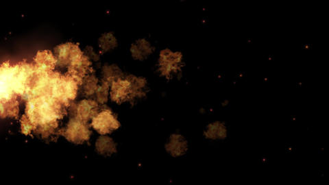 Fire ball explosion Detailed fire with small sparks particles Animation