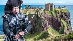 Dunnottar castle ruins - Stonehaven - Scotland - Parallax Footage Footage