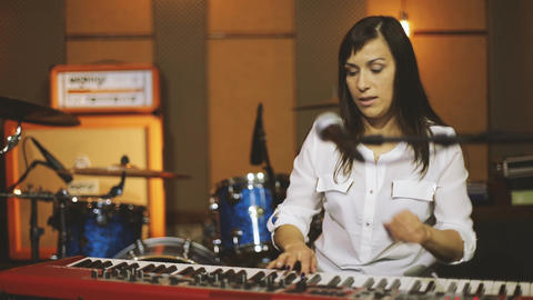Woman Playing the Piano Footage