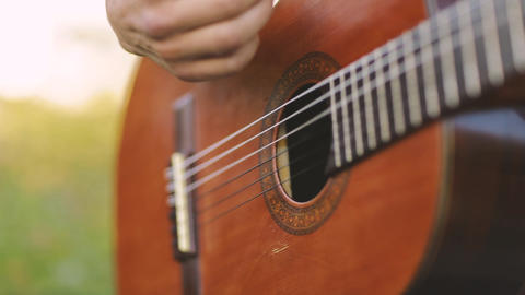 Man Playing Guitar Stock Video Footage