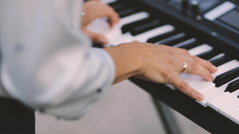 Woman Playing the Piano Stock Video Footage