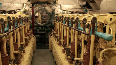 submarine engine room Footage