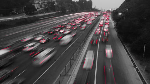 Black & White Traffic Time Lapse Footage
