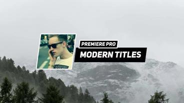Minimal Titles Premiere Pro Template