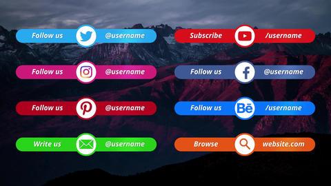 Social Media Lower Premiere Pro Template