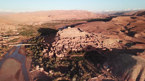 Aerial view on Kasbah Ait Ben Haddou in Morocco 영상물