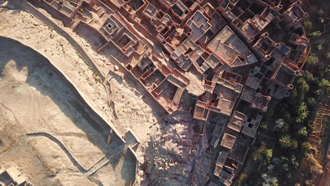 Aerial top view on Kasbah Ait Ben Haddou Morocco ビデオ