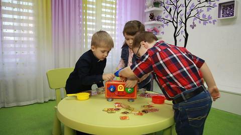 Children play board games Footage