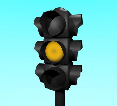 Traffic Light Animation stock footage