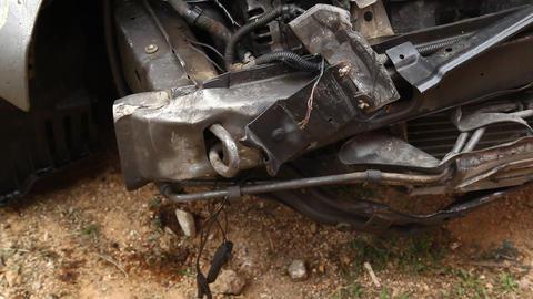 Accident car close up Live Action