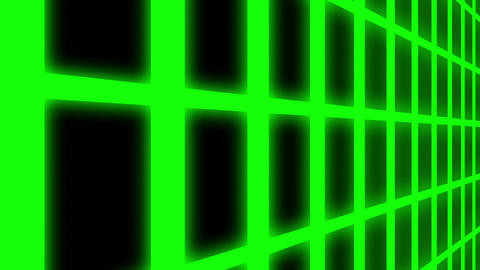 Endless Green Glowing Vertical Grid Retro Abstract Motion Background Loop Slow Animation