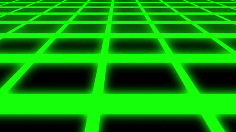 Endless Green Glowing Horizontal Grid Retro Abstract Motion Background Loop Slow Animation